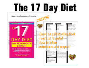 Creating A Healthy Balance 17-Day Diet Weight Loss Group